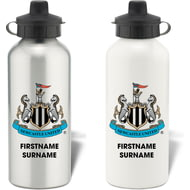 Personalised Newcastle United FC Bold Crest Aluminium Sports Water Bottle