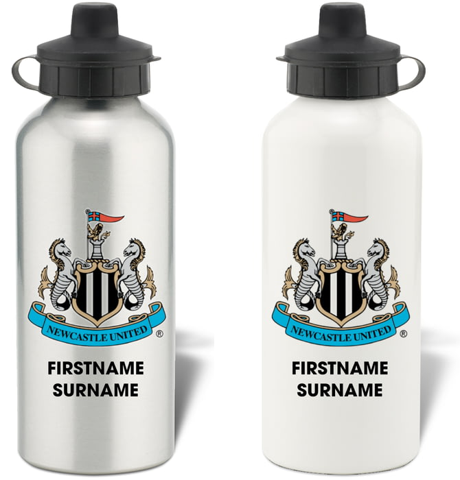 Newcastle United F.C Personalised Hip Flask CREST