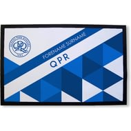 Personalised Queens Park Rangers FC Patterned Rubber Backed Door Mat