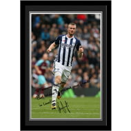 Personalised West Bromwich Albion FC Brunt Autograph Photo Framed