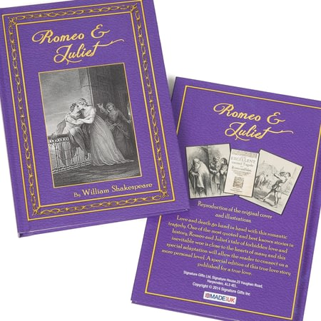 Personalised Shakespeare's Romeo & Juliet Novel Book
