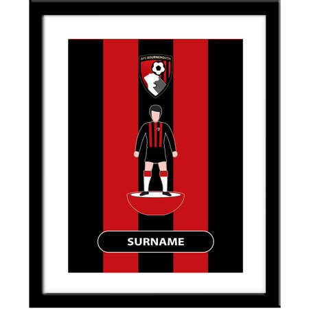 Personalised Bournemouth Player Figure Framed Print