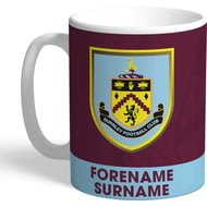 Personalised Burnley FC Bold Crest Mug