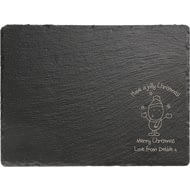 Personalised Chilli & Bubble's Jolly Christmas Rectangle Slate Cheese Board