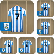 Personalised Huddersfield Town AFC Dressing Room Shirts Coasters Set of 6
