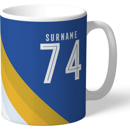 Personalised Leicester City Stripe Mug