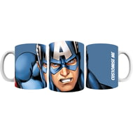 Personalised Marvel Avengers Assemble Captain America Mug
