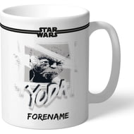 Personalised Star Wars Yoda Paint Mug