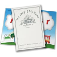 Personalised The Story Of My Name Embossed Classic Childrens Story Book