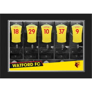 Personalised Watford 9x6 Dressing Room Shirts Photo
