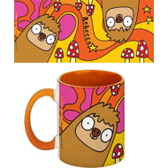 Personalised Groovy Sloth Orange Inside Mug