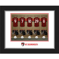 Personalised AFC Bournemouth Dressing Room Shirts Photo Folder