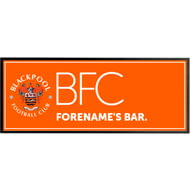 Personalised Blackpool Crest Rubber Bar Runner