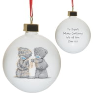 Personalised Me To You Wrapped Up In Lights Ceramic Bauble