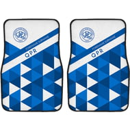 Personalised Queens Park Rangers FC Patterned Front Car Mats