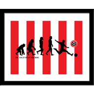 Personalised Sheffield United FC Evolution Framed Print