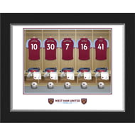 Personalised West Ham United FC Dressing Room Shirts Photo Folder