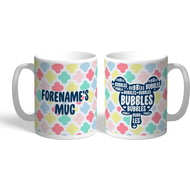 Personalised Powerpuff Girls Bubbles Silhouette Mug