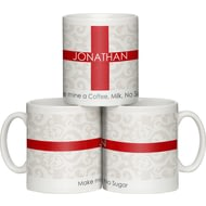 Personalised Shabby Chic England Flag Ceramic Mug