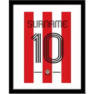 Personalised Southampton Retro Shirt Framed Print