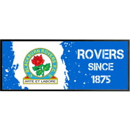 Personalised Blackburn Rovers Paint Splash Regular Bar Runner
