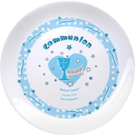 "Personalised Blue Heart Holy Communion 8"" Coupe Plate"