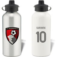 Personalised AFC Bournemouth Retro Shirt Aluminium Sports Water Bottle
