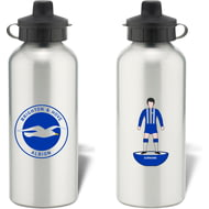 Personalised Brighton & Hove Albion FC Player Figure Aluminium Sports Water Bottle