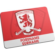Personalised Middlesbrough Bold Crest Mouse Mat