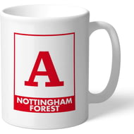Personalised Nottingham Forest FC Monogram Mug