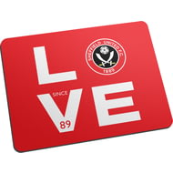 Personalised Sheffield United FC Love Mouse Mat