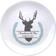 Personalised Stag 8 Inch Ceramic Plate