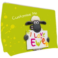 Personalised Shaun The Sheep Valentines Print Large Wash Bag