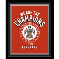 Personalised Accrington Stanley FC Champions Photo Framed