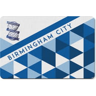 Personalised Birmingham City FC Patterned Rubber Backed Large Floor Mat - 60x90cm