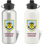 Personalised Burnley FC Bold Crest Aluminium Sports Water Bottle