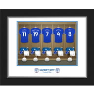 Personalised Cardiff City Dressing Room Shirts Photo Folder