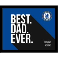 Personalised Chelsea FC Best Dad Ever 10x8 Photo Framed