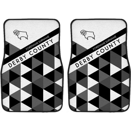 Personalised Derby County Patterned Front Car Mats
