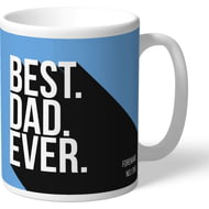 Personalised Manchester City FC Best Dad Ever Mug