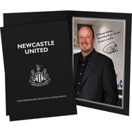 Personalised Newcastle United FC Benitez Autograph Photo Folder