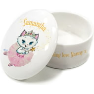Personalised Nina Kitten Fairy Bone China Trinket Box