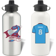 Personalised Scunthorpe United FC Aluminium Sports Water Bottle
