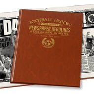 Personalised Blackburn Football Newspaper Book - Leatherette Cover