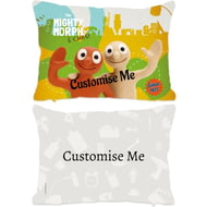 Personalised Morph The Mighty Morph & Chas Rectangle Cushion - 45x30cm