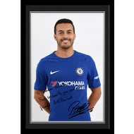 Personalised Chelsea FC Pedro Autograph Photo Framed