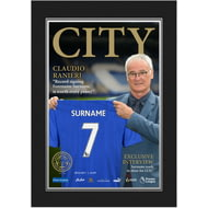 Personalised Leicester City FC Magazine Front Cover Photo Folder