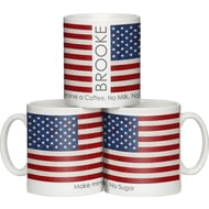 Personalised Shabby Chic United States Flag Ceramic Mug
