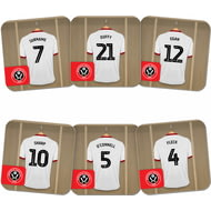 Personalised Sheffield United FC Dressing Room Shirts Coasters