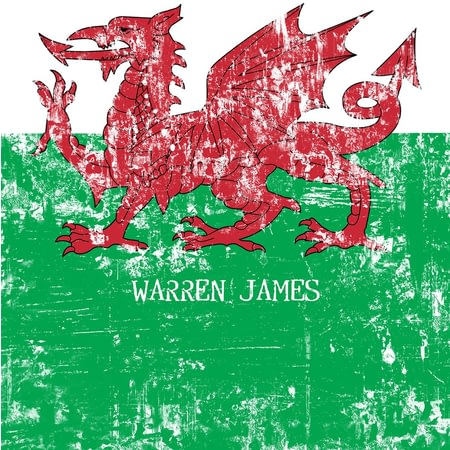 Personalised Welsh Dragon Grunge Notebook